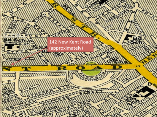 142 New Kent Road, 1897 Image Credit: MAPCO