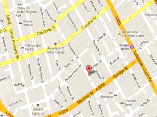 19 Cleveland Street, 2013 Image Credit: Google Maps